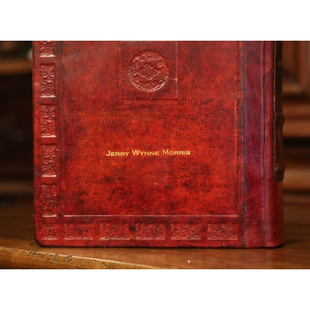 Early 20th Century Leather and Gilt Illustrated King James Version Family Bible For Sale - Image 11 of 12