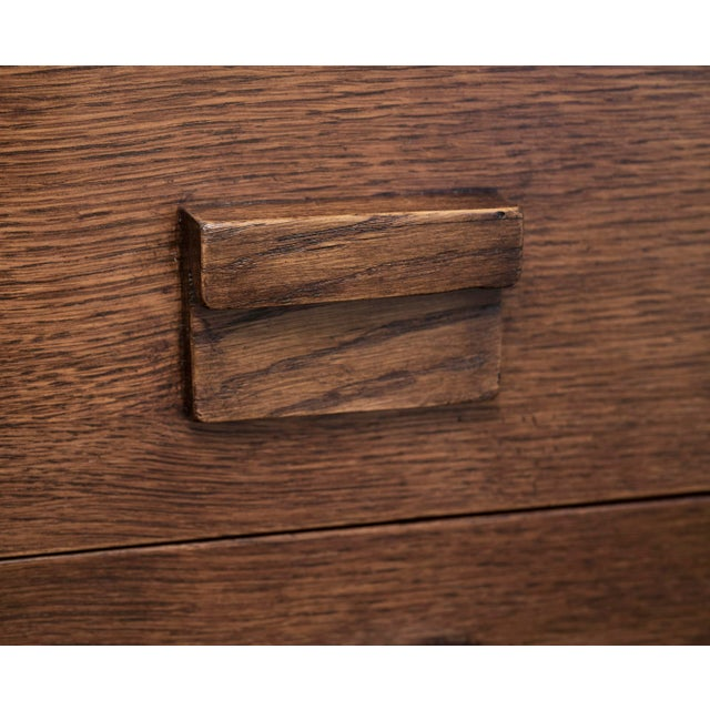 Brown Handsome French Modernist Desk in Walnut, 1950s For Sale - Image 8 of 12