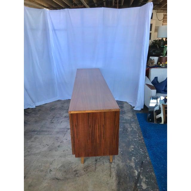 Wood Mid Century Modern Teak Credenza For Sale - Image 7 of 11