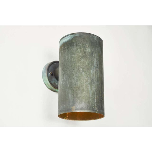 Markyard 1950s Hans-Agne Jakobsson Cylindrical Outdoor Sconces - a Pair For Sale - Image 4 of 10