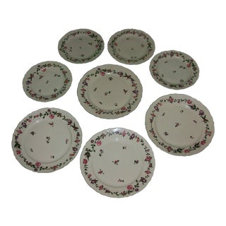 Vintage Mid-Century Eschenbach Bavaria Porcelain Scalloped Edge Dinner & Salad Plates - Set of 4 Each