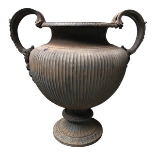 20th Century Neoclassical Style Cast Iron Urn For Sale