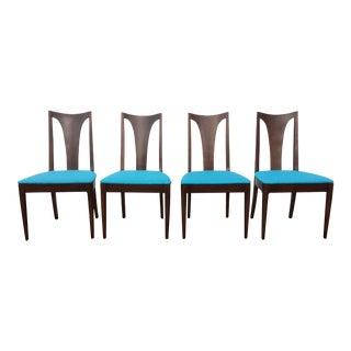 Broyhill Restored Walnut Chairs - Set of 4