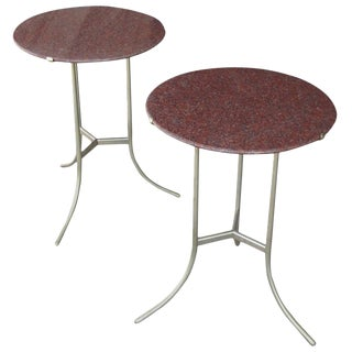 Cedric Hartman Pair of Granite Side Tables For Sale