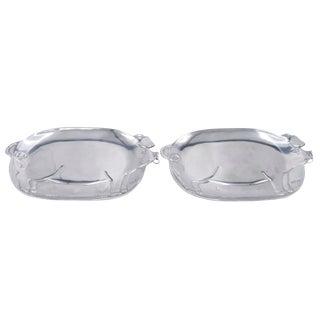 Aluminum Pig Platters - a Pair For Sale