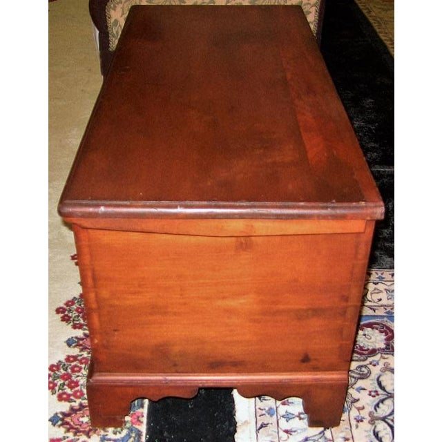 PRESENTING a GORGEOUS 18th Century piece of American furniture ……. an 18C Pennsylvania Cherrywood and Cedar Blanket Chest....