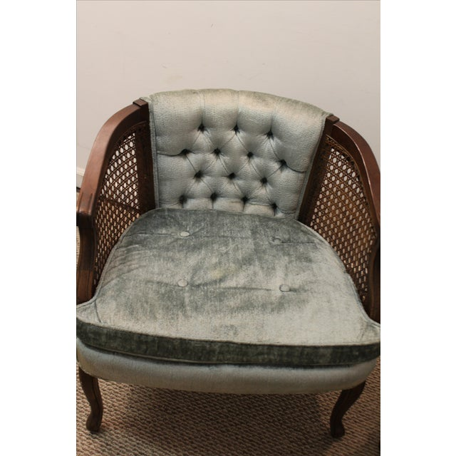 Cane & Tufted-Back Ladies Chairs - A Pair - Image 7 of 10