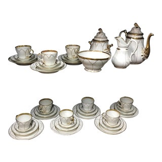 Antique Old Paris Porcelain Tea Set - Set of 45 For Sale