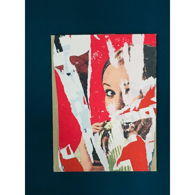 The Mischievous One, 1975. Mimmo Rotella (1918-2006). Screen printing of torn posters on canvas - limited edition of 200....