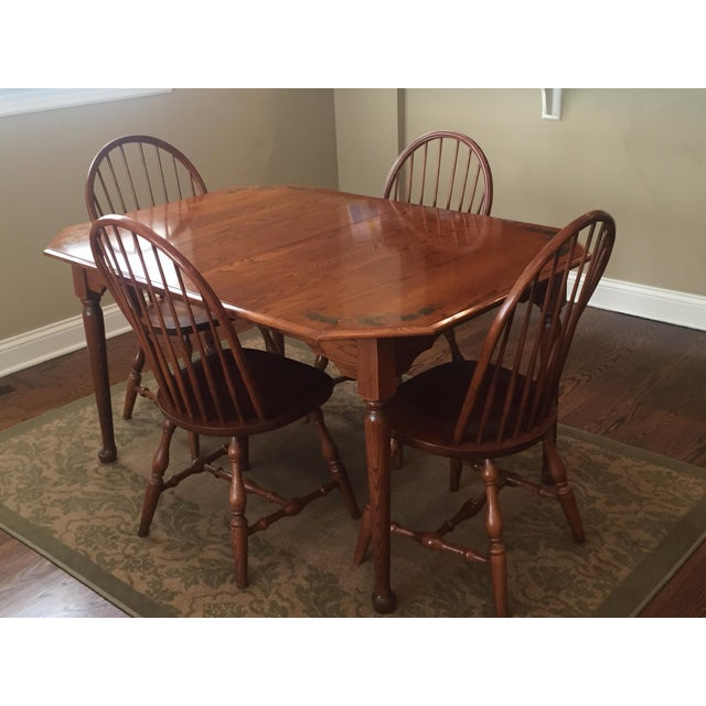 L. Hitchcock Classic Briarcliffe Extension Dining Set For Sale - Image 10 of 11