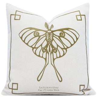 Silkscreen Butterfly Pillow Cover For Sale