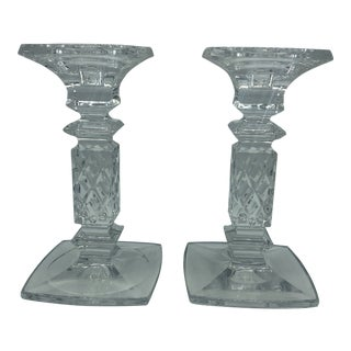Waterford Marquis Large Candlesticks - a Pair For Sale