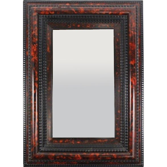 Flemish Faux Tortoiseshell Mirror For Sale - Image 5 of 5
