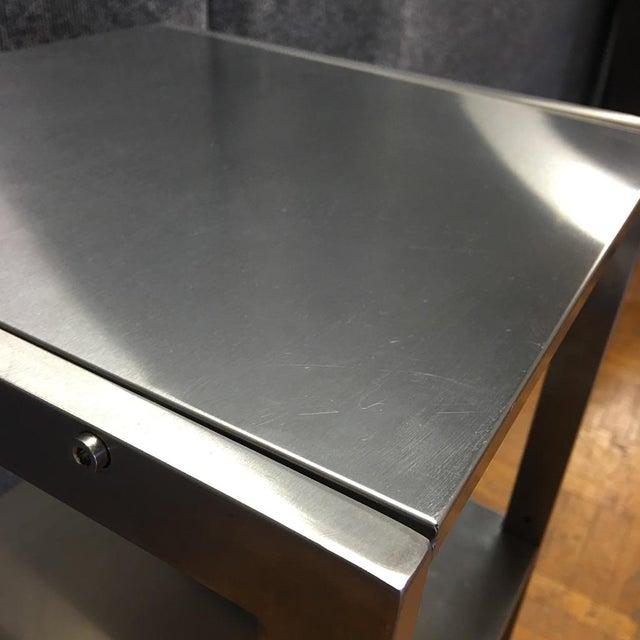 Sleek Silver Metal Shelf - Image 5 of 8