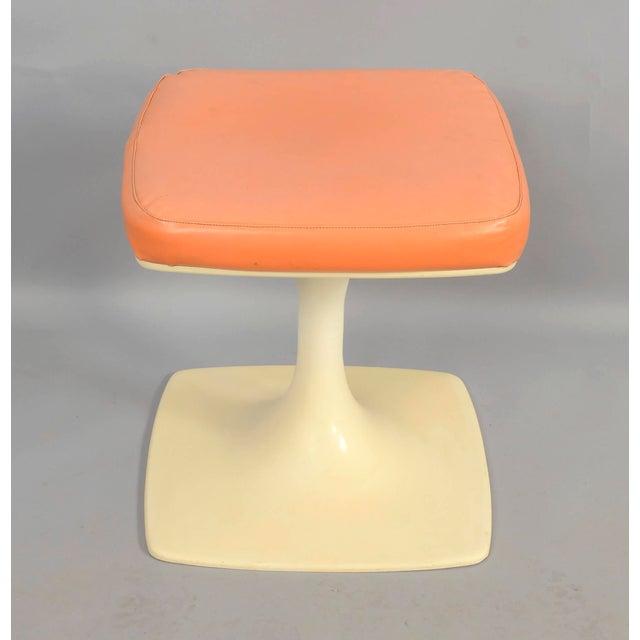 Mid-Century Modern Tulip Based Stool Vanity Seat For Sale - Image 3 of 6
