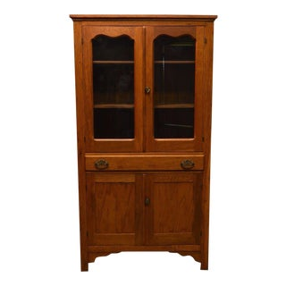 Antique Country Oak Cabinet