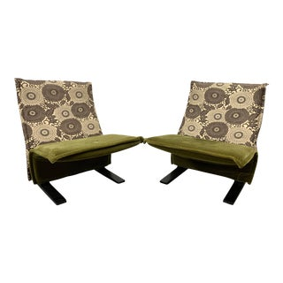 Pierre Paulin Concorde Easy Chairs - a Pair For Sale