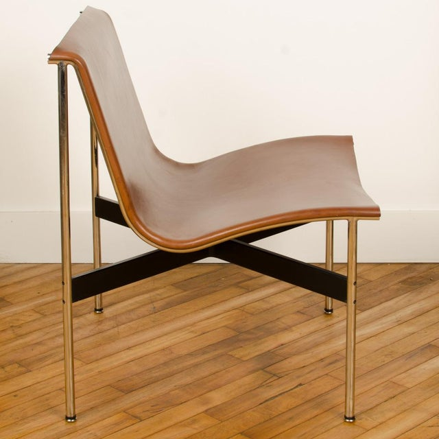Mid-Century Modern Mid Century Katavolos Littell and Kelley Designed Leather Tan Chair For Sale - Image 3 of 7