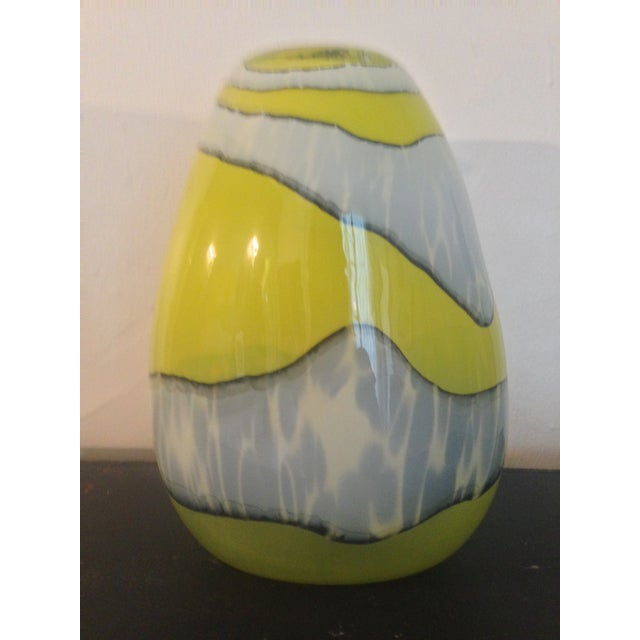 Italian Modern Blown Glass Vase - Image 2 of 4
