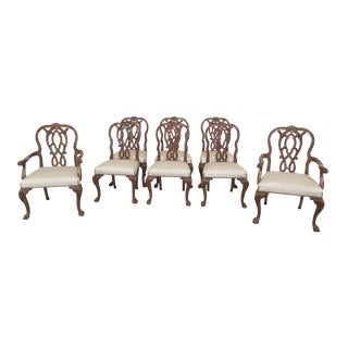 1990s Vintage Karges Georgian Style Ball & Claw Dining Room Chairs- Set of 8 For Sale