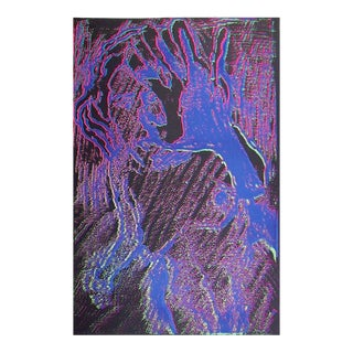 Purple Nude Silkscreen by Lloyd Fertig For Sale