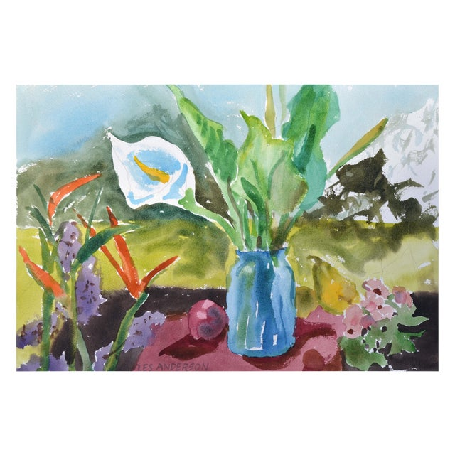 Calla Lily & Fruit Still Life For Sale