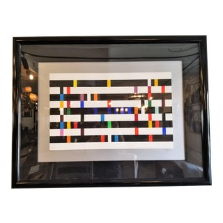 """Yaacov Agam Limited Serigraph """"One and Another Deluxe #3"""" in Black Frame For Sale"""