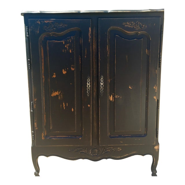 Vintage Distressed Armoire Dresser - Image 1 of 5