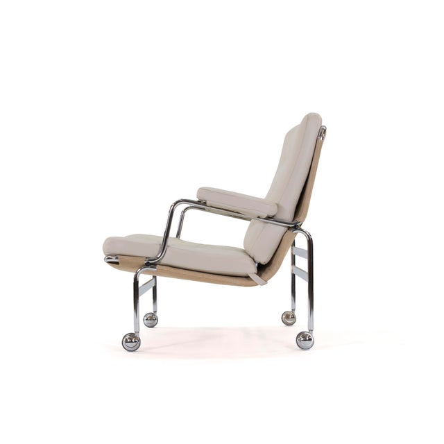Mid-Century Modern 1970s Vintage Bruno Mathsson Karin Easy Chairs- A Pair For Sale - Image 3 of 12