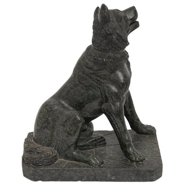 """19th Century Italian Grand Tour """"Molossian Hound"""" Marble Sculpture For Sale - Image 12 of 12"""