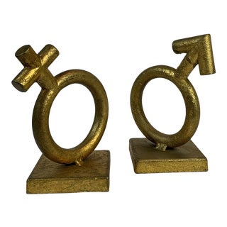 """Signed """"C Jere"""" Sexes Bookends - a Pair For Sale"""