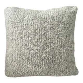 Pierre Frey Organic Woven Alpaca, Mohair, and Leather Luxe Throw Pillow For Sale