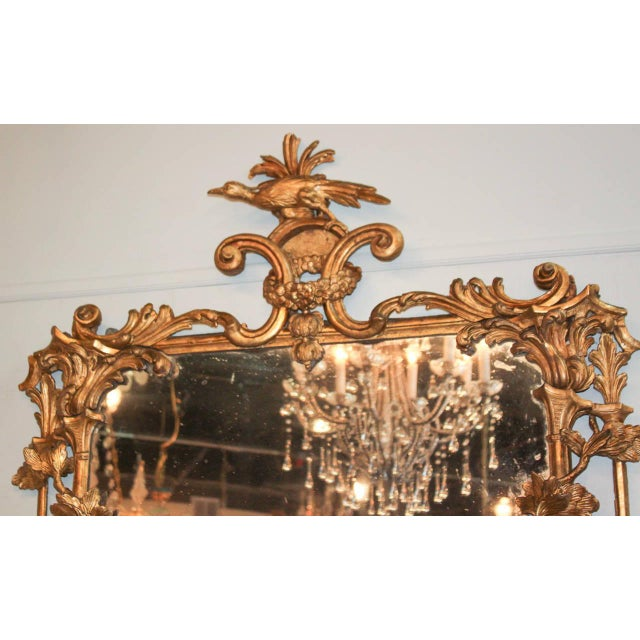 Giltwood Rare Early 19th Century English Chippendale Gilt Mirror For Sale - Image 7 of 10