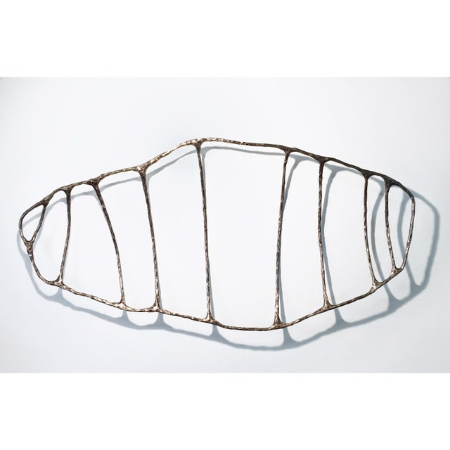 2010s Bronze Fishbone Lost Wax Casting Sculpture by Steven Haulenbeek For Sale - Image 5 of 5