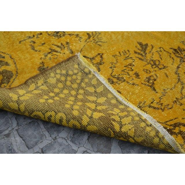 Turkish Handmade Yellow Rug - 5′8″ × 9′6″ - Image 6 of 6