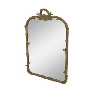 Friedman Brothers Vintage French Louis XV Style Large Gilt Mirror For Sale