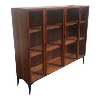 Mid Century Modern 1960's Danish Modern Display Cabinet