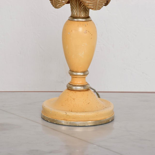 Wood Neoclassical Sculptural Table Lamps, Circa 1940s For Sale - Image 7 of 12