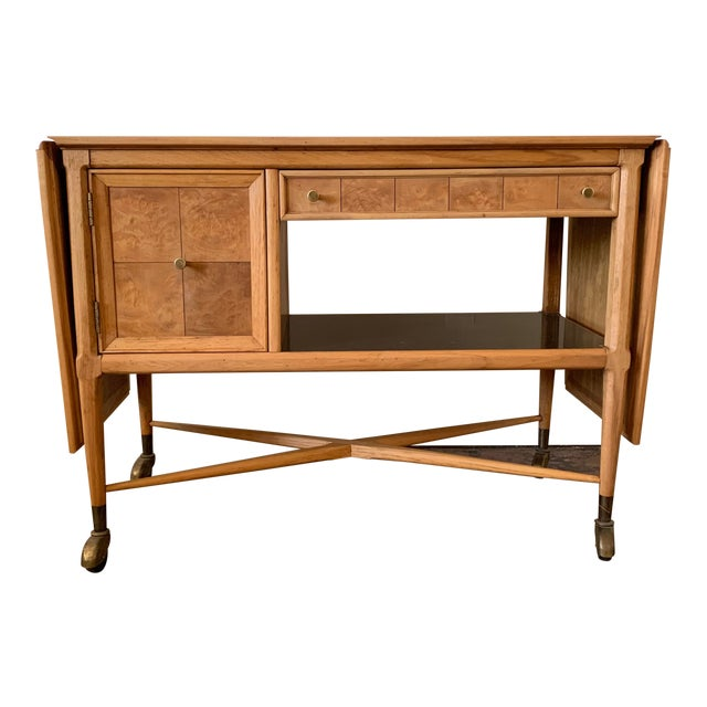 Mid-Century Modern Scandinavian Sophisticate Bar Cart For Sale