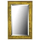 Image of Mastercraft Bernhard Rohne Acid-Etched Frame Bevelled Mirror For Sale