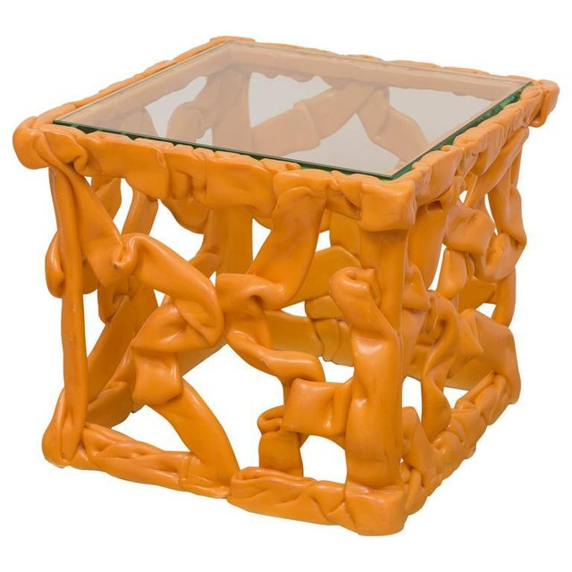 Plastic Decorative Resin Side Table For Sale - Image 7 of 7