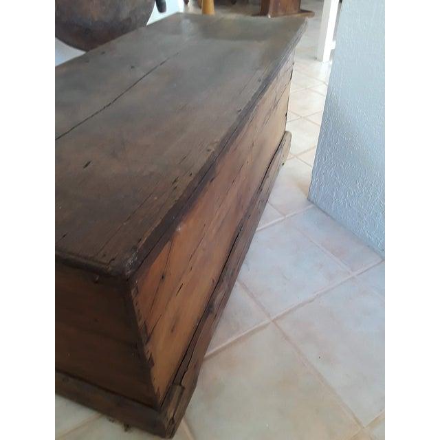 1980s Javanese Teak Wood Chest For Sale In Santa Fe - Image 6 of 13