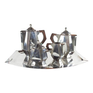 French Art Deco Silverplate Tea & Coffee Service - Set of 5 For Sale