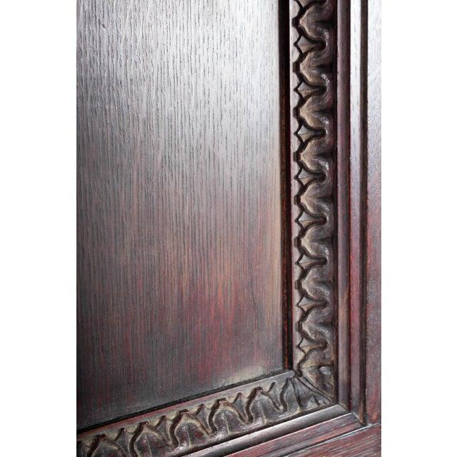 Oak C. 1880 Vanderbilt Mansion Original Hand-Carved Oak Lion Wall Panel For Sale - Image 7 of 11