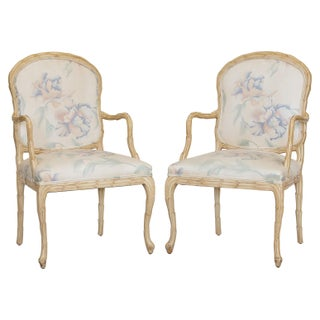 Carved Leaves Armchairs by Century, S/4 Preview