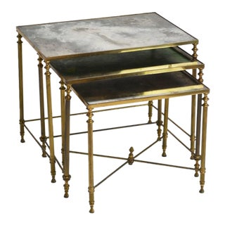 French Neoclassical Nesting Tables - Set of 6 For Sale