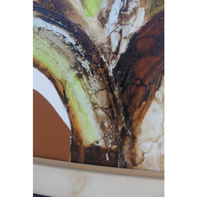 A- Large Vintage Expressionist Abstract Painting - Image 11 of 11