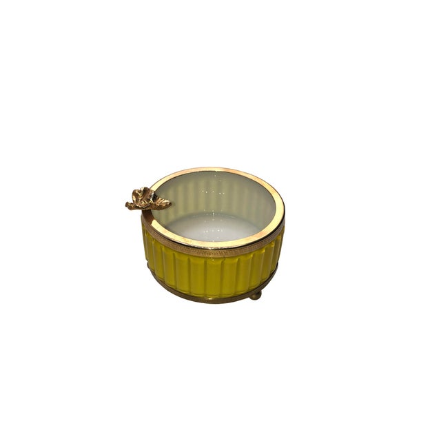 Murano Antique Murano Yellow Ashtray For Sale - Image 4 of 8