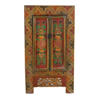 Mid-Century Chinese Export Painted Cabinet For Sale