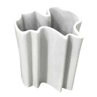 Vintage Free Form Porcelain Vase For Sale